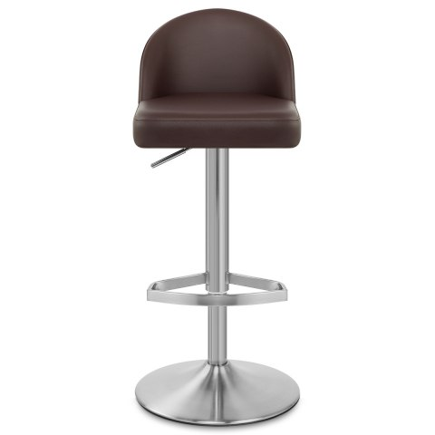 Mimi Real Leather Bar Stool Brown
