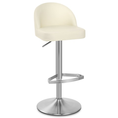 Mimi Real Leather Bar Stool Cream