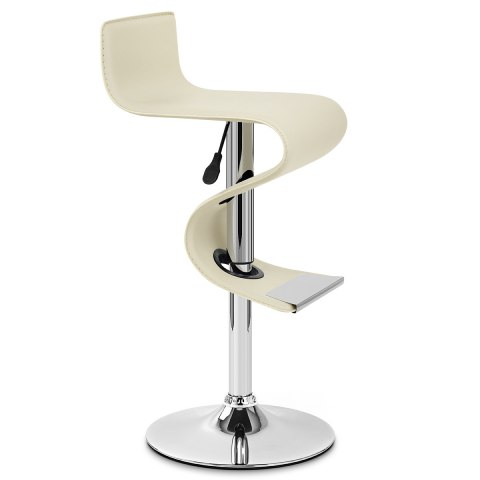 Profile Faux Leather Stool Cream