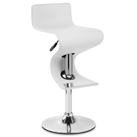 Profile Faux Leather Stool White