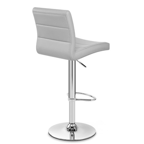 Chrome Breakfast Bar Stool Grey
