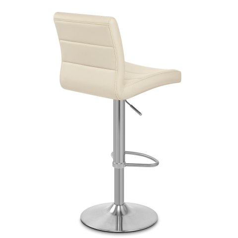 Brushed Steel Breakfast Bar Stool Cream