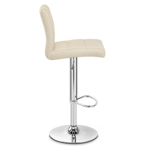 Chrome Breakfast Bar Stool Cream
