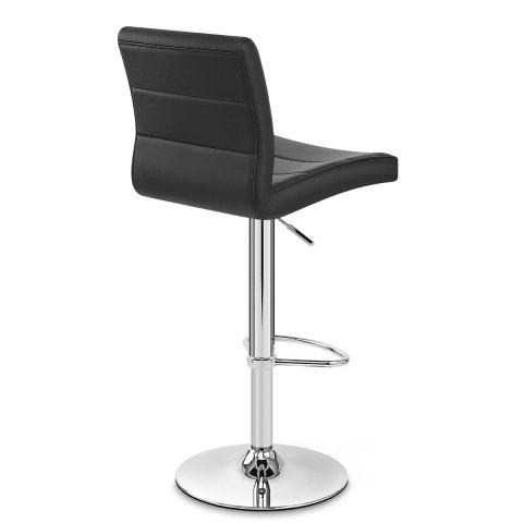 Chrome Breakfast Bar Stool Black