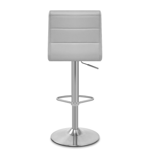 Brushed Steel Breakfast Bar Stool Grey