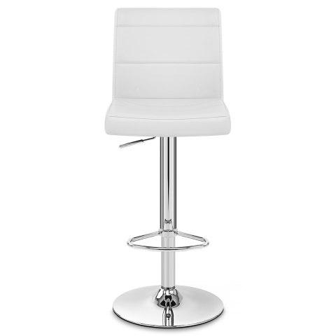 White Breakfast Bar chrome breakfast bar stool white - atlantic shopping