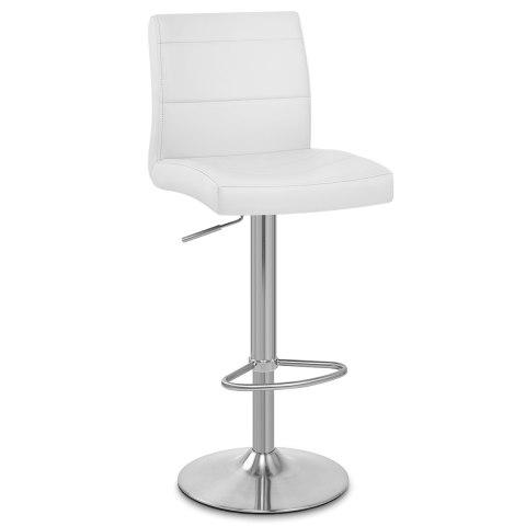 White Breakfast Bar brushed steel breakfast bar stool white - atlantic shopping