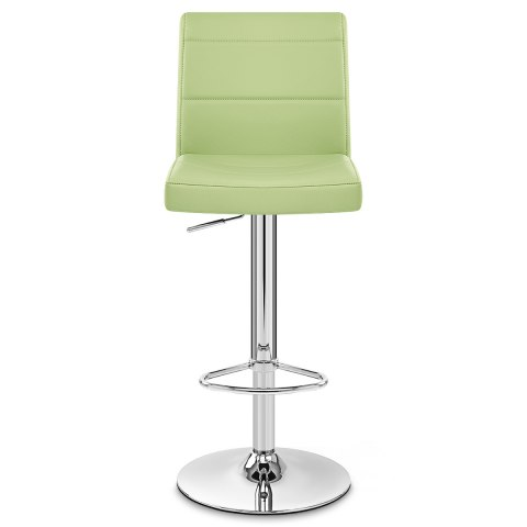 Chrome Breakfast Bar Stool Green
