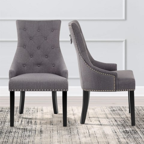 Ascot Dining Chair Charcoal Fabric Atlantic Shopping