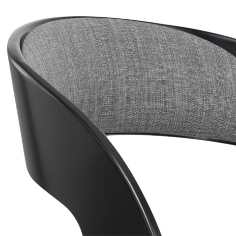 Eve Black Stool Grey Fabric