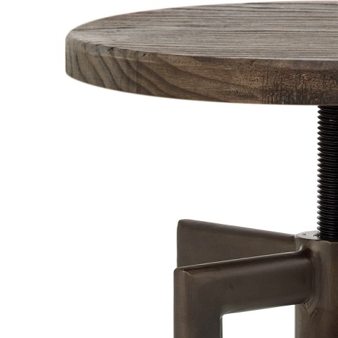 Vintage Revolution Stool Dark Wood