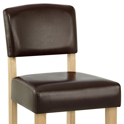 Sydney Oak Bar Stool Brown