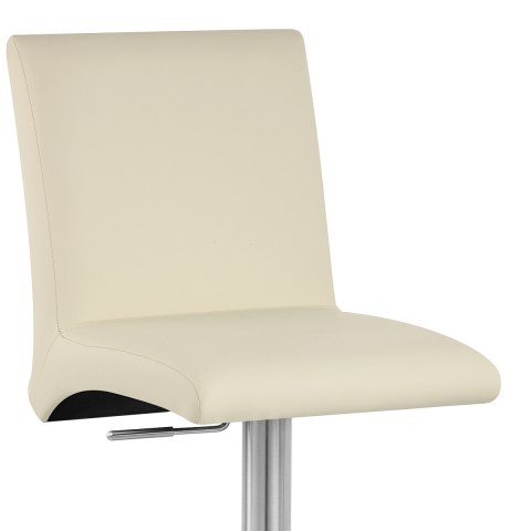 Deluxe Brushed High Back Stool Cream