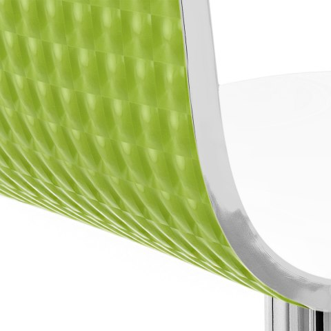 Glimmer Bar Stool White & Green