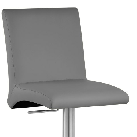 Deluxe Brushed High Back Stool Grey