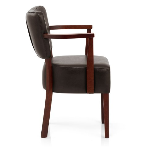 Ramsay Walnut Chair With Arms Brown