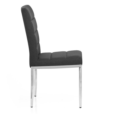 Taurus Dining Chair Charcoal Fabric