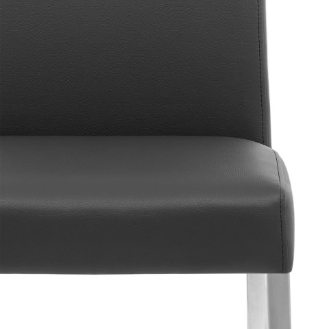 Primo Brushed Kitchen Chair Black