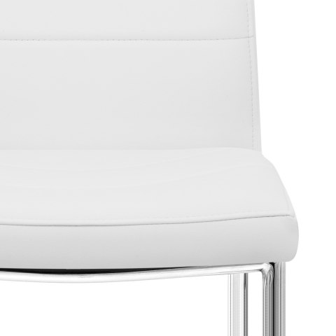 Chrome Breakfast Dining Chair White