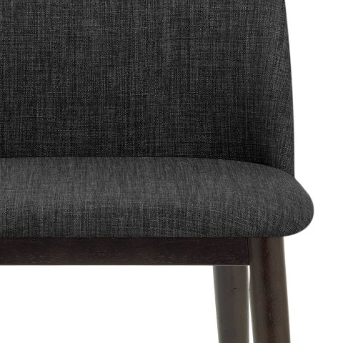 Elwood Walnut Dining Chair Charcoal Fabric Atlantic Shopping