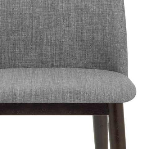 Elwood Walnut Dining Chair Grey Fabric