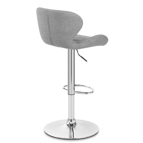 Dual Bar Stool Grey Fabric