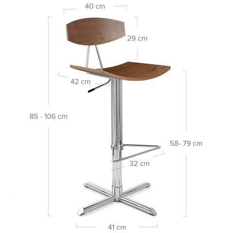 Blade Bar Stool Walnut