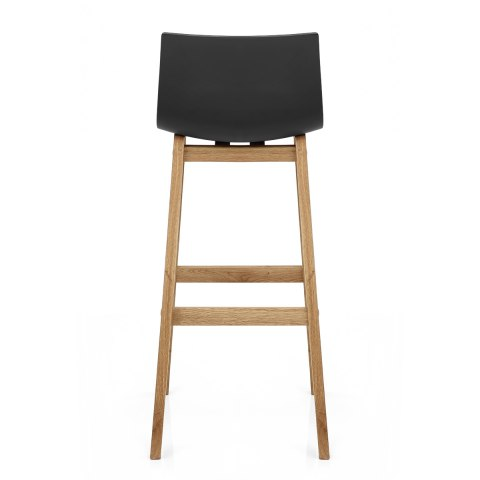 High Drift Oak & Black Bar Stool