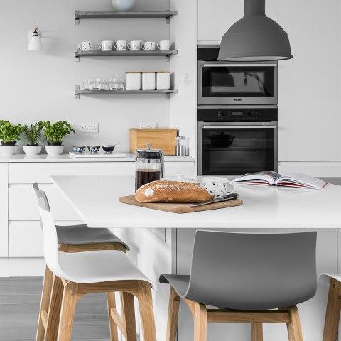 High drift oak white bar stool atlantic shopping for White breakfast bar stools
