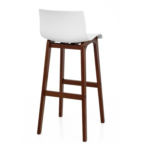 Drift Walnut Amp White Bar Stool Atlantic Shopping