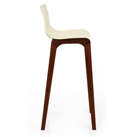 Drift Walnut & Cream Bar Stool