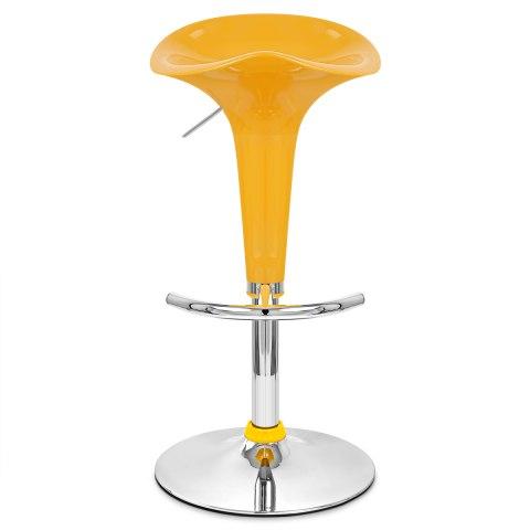 gloss coco bar stool yellow