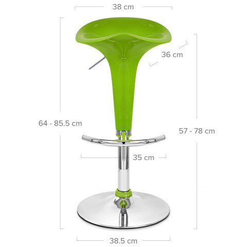 Gloss Coco Bar Stool Green
