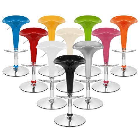 Gloss Coco Bar Stool Silver