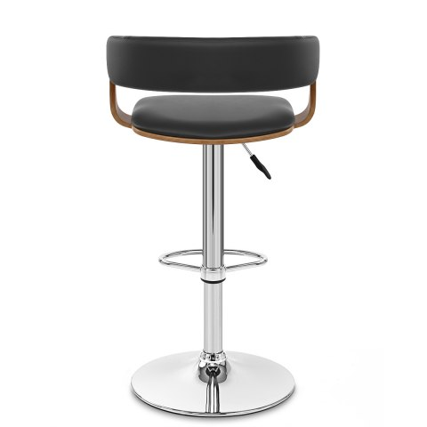 Orlando Bar Stool Black & Walnut