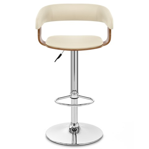 Orlando Bar Stool Cream Amp Walnut Atlantic Shopping