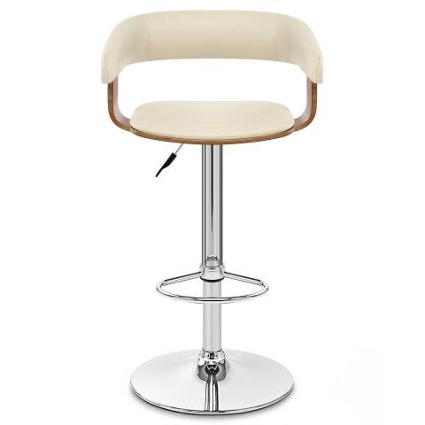 orlando bar stool cream walnut atlantic shopping. Black Bedroom Furniture Sets. Home Design Ideas