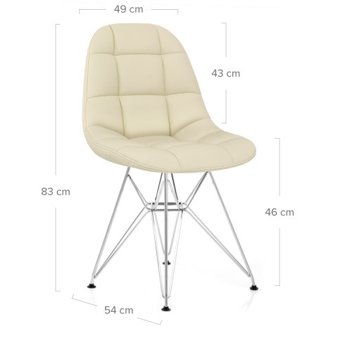 Moda Chrome Chair Cream