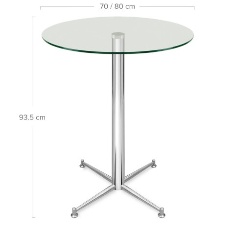 Cortina Bar Table Glass