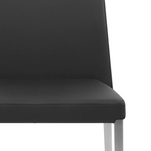 Faith Brushed Chair Black Faux Leather