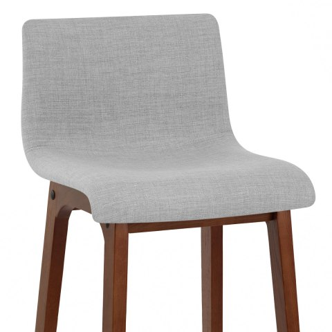 Drift Walnut & Light Grey Fabric Stool