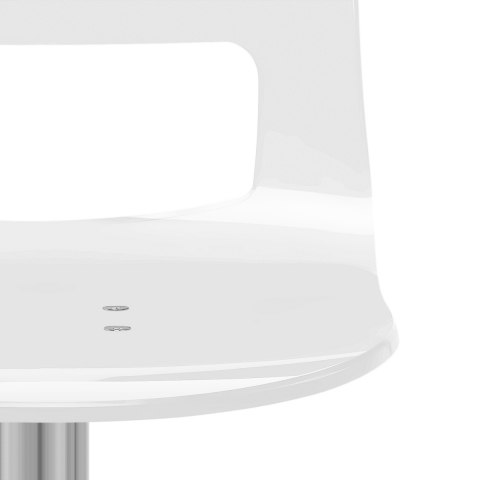Stardust Brushed Steel Bar Stool White