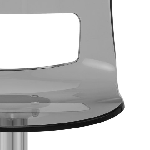 Stardust Brushed Steel Stool Smoked Atlantic Shopping