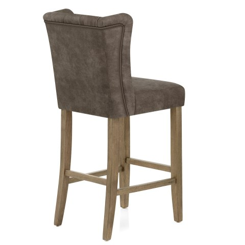 Pemberley Oak Stool Antique Brown