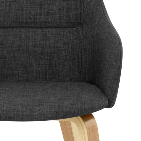 Harley Dining Chair Charcoal Fabric