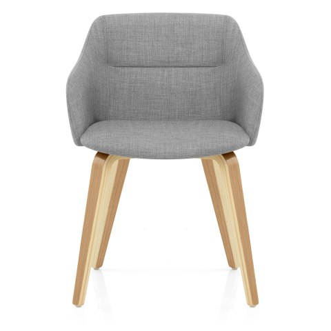 Harley Dining Chair Light Grey Fabric