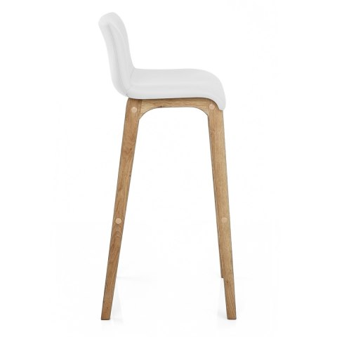 Wave Bar Stool White