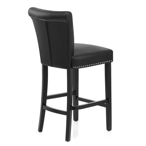 buckingham bar stool black leather atlantic shopping. Black Bedroom Furniture Sets. Home Design Ideas