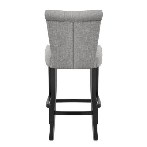 buckingham bar stool grey fabric atlantic shopping. Black Bedroom Furniture Sets. Home Design Ideas
