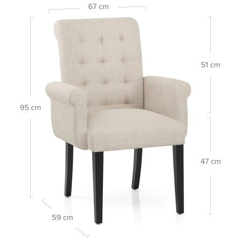 Packwood Dining Chair Cream Fabric